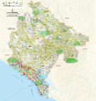 Map Montenegro panorama